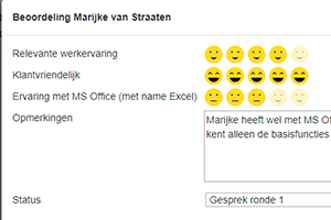 Recruitment Services: beoordelingen in smileys